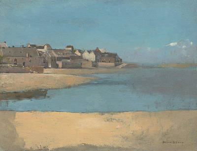Painting - Village By The Sea In Brittany  by Odilon Redon