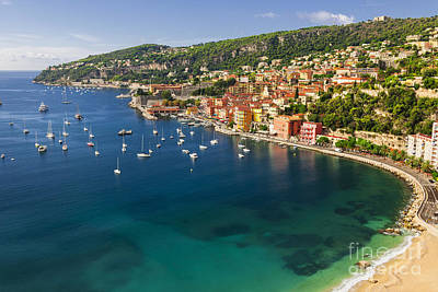 Blue Hues - Villefranche-sur-Mer view on French Riviera by Elena Elisseeva