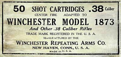 Vintage Ammunition Sign Art Print by Jon Neidert