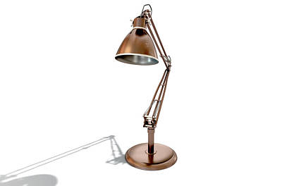 Desk Digital Art - Vintage Copper Desk Lamp by Allan Swart