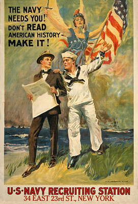Painting - Vintage Recruitment Poster by Vintage Pix