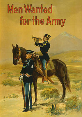 Painting - Vintage Us Army by Vintage Pix