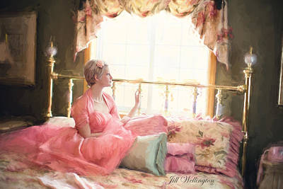Digital Art - Vintage Val Bedroom Dreams by Jill Wellington