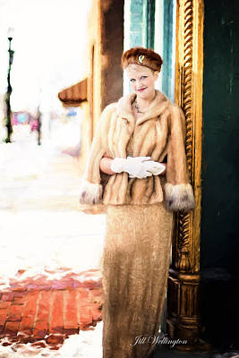 Digital Art - Vintage Val Winter Glam by Jill Wellington