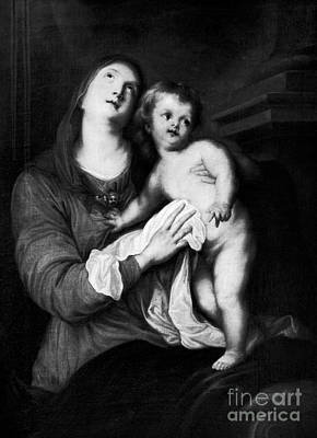 Black Madonna Painting - Virgin And Child  by Anthony van Dyck