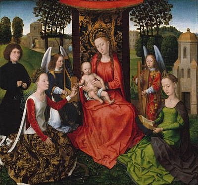 Child Jesus Painting - Virgin And Child by Hans Memling