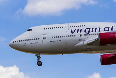 Impressionist Landscapes - Virgin Atlantic Boeing 747 by David Pyatt