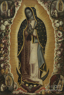 Virgin Guadalupe Painting - Virgin Of Guadalupe by Manuel de Arellano