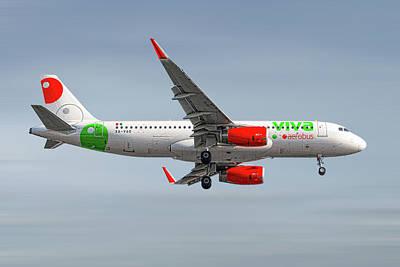 Mixed Media - Vivaaerobus Airbus A320-232 by Smart Aviation