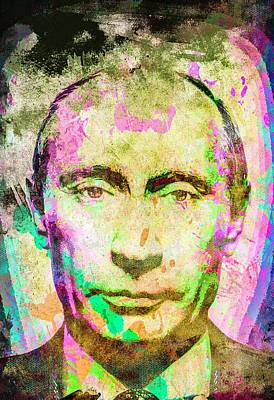 Mixed Media - Vladimir Putin by Svelby Art