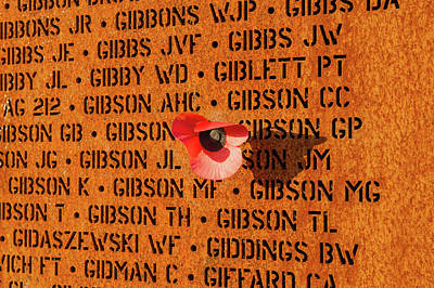 Photograph - Wall Of Names Ibcc by Gary Eason