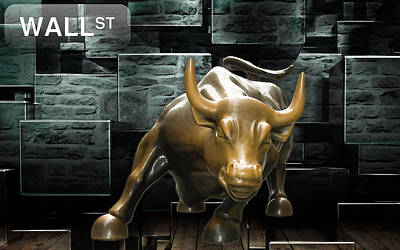 Mixed Media - Wall Street by Marvin Blaine