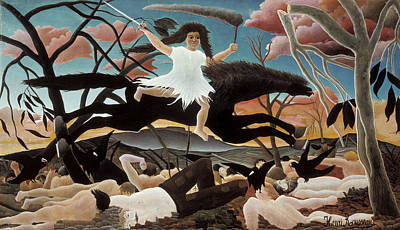 Painting - War by Henri Rousseau