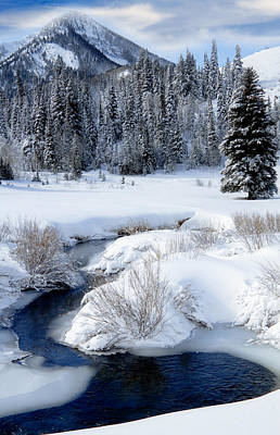 Wasatch Mountains In Winter Art Print