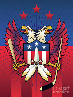 Digital Art - Washington Dc Double Eagle Sports Fan Crest by Joe Barsin