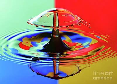 Photograph - Water Drop Collisions by Colin Rayner