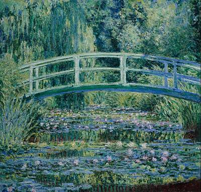 Waterlily Wall Art - Painting - Water Lilies And Japanese Bridge by Claude Monet