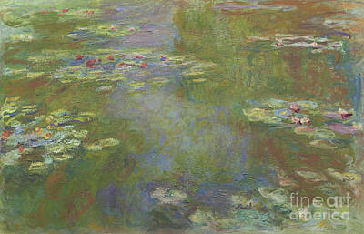 Alga Painting - Water Lily Pond by Claude Monet