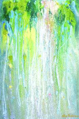 Painting - Waterfall by Gina De Gorna