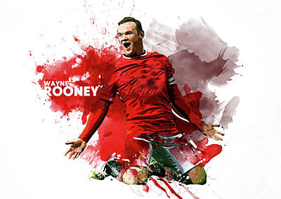 Cristiano Ronaldo Digital Art - Wayne Rooney by Semih Yurdabak