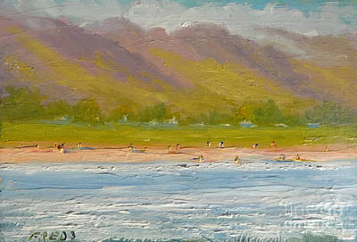 Painting - West Maui Mountains by Fred Wilson