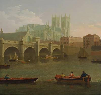 Westminster Abbey Painting - Westminster Abbey And Bridge by Joseph Farington