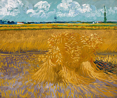 Meadow Painting - Wheat Field by Vincent van Gogh