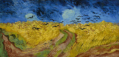 Bird Painting - Wheat Field With Crows by Vincent van Gogh