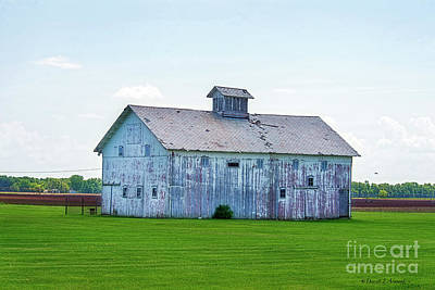 Photograph - White Barn by David Arment