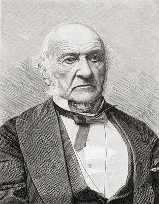 Liberal Drawing - William Ewart Gladstone, 1809 To 1898 by Vintage Design Pics