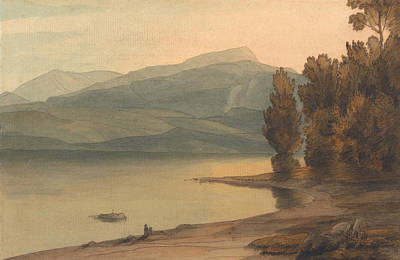 Tree At Sunset Painting - Windermere At Sunset by Francis Towne