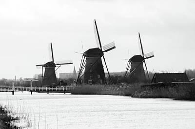 Wall Art - Photograph - 3 Windmills by Brandy Herren