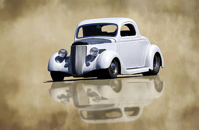 Photograph - 3 Window 36 Ford Reflection by Steve McKinzie
