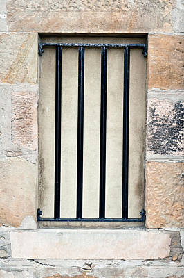 Dungeon Photograph - Window Bars by Tom Gowanlock