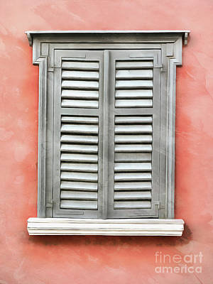 Painting - Window With Traditional Architecture In Plaka by George Atsametakis