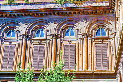 Bath Time Rights Managed Images - Windows in Rome, Italy. Royalty-Free Image by Marek Poplawski