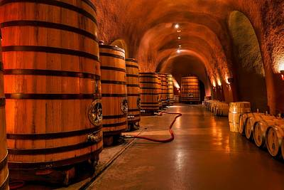 Wine Barrel Photograph - Wine Barrels by Mountain Dreams