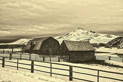 Photograph - Winter Farm Scene In Colorado by L O C