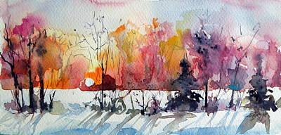 Winter Landscapes Painting - Winter by Kovacs Anna Brigitta