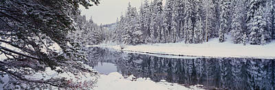 Winter Snowstorm In The Lake Tahoe Art Print by Panoramic Images