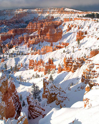 Photograph - Winter Sunrise Bryce Canyon National Park Utah by Dave Welling