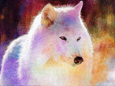 Wolf Art Print by Elena Kosvincheva