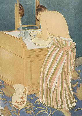 Relief - Woman Bathing by Mary Cassatt