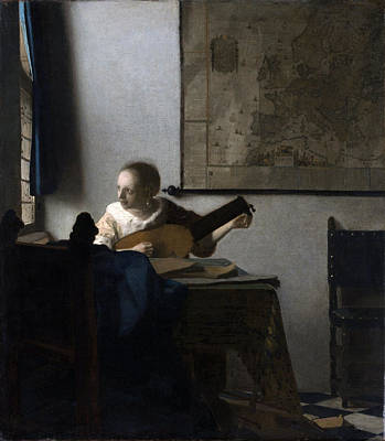 Painting - Woman With A Lute by Johannes Vermeer