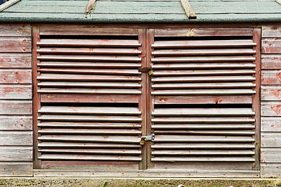 Cabin Wall Photograph - Wooden Doors by Tom Gowanlock