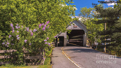 Photograph - Woodstock Middle Bridge by Scenic Vermont Photography