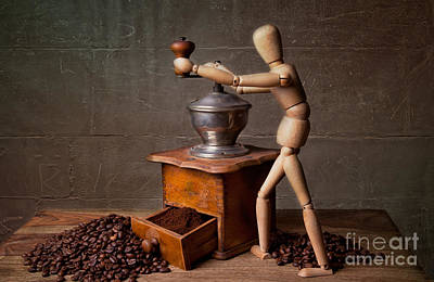 Espresso Photograph - Working The Mill by Nailia Schwarz