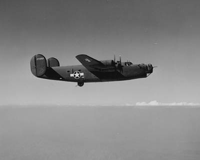 Wwii Us Aircraft In Flight Art Print by American School