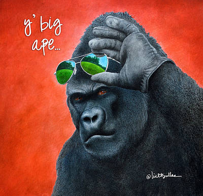 Painting - Y' Big Ape... by Will Bullas