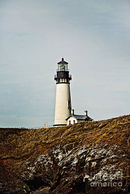 Old School Houses Photograph - Yaquina Head Lighthouse by Scott Pellegrin